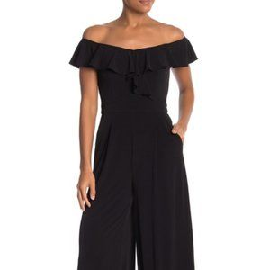 NEW Eliza J Off-the-Shoulder Ruffle Jumpsuit 14